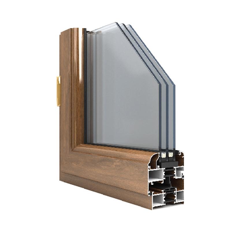 65系列穿条隔热平开门窗